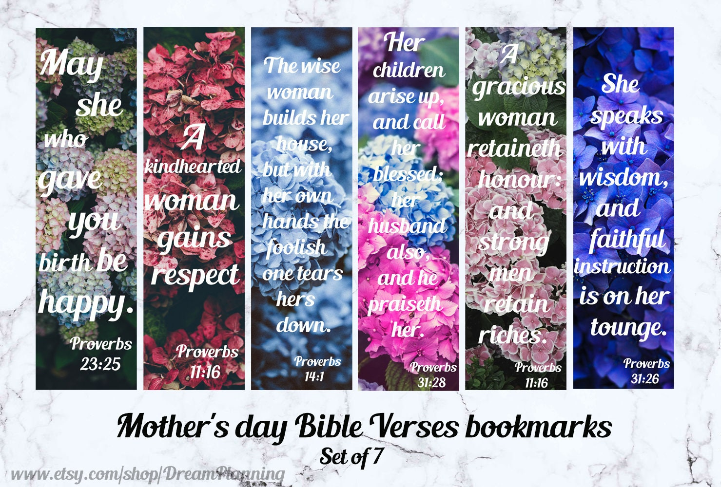christian bookmarks for women mother 39 s day bible verses etsy. Black Bedroom Furniture Sets. Home Design Ideas