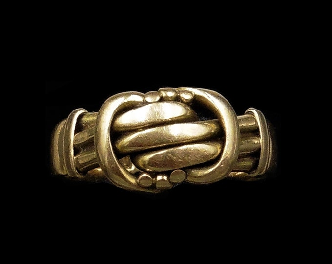 Antique Lovers Knot 18ct 18K Yellow Gold Ring Band | Birmingham 1900