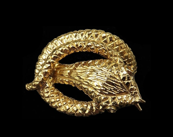 RESERVED LAYAWAY   Statement Snake Serpent 18ct Gold Gilded Silver Ring   Antique Victorian Style