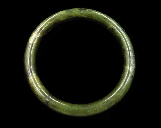 Vintage Jade Jadeite Dark Green Bangle Bracelet | Art Deco