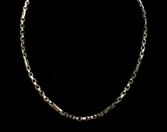 "Antique Short Fancy 16"" Chain Rolled Gold Necklace   Belcher Chain   Victorian Chain"