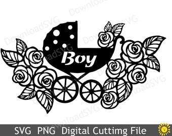 Svg and png cutting file template baby girl stroller for etsy svg and png cutting file template boy stroller for cricut silhouette digital decoration vinyl cards scrapbooking home design 131vr maxwellsz