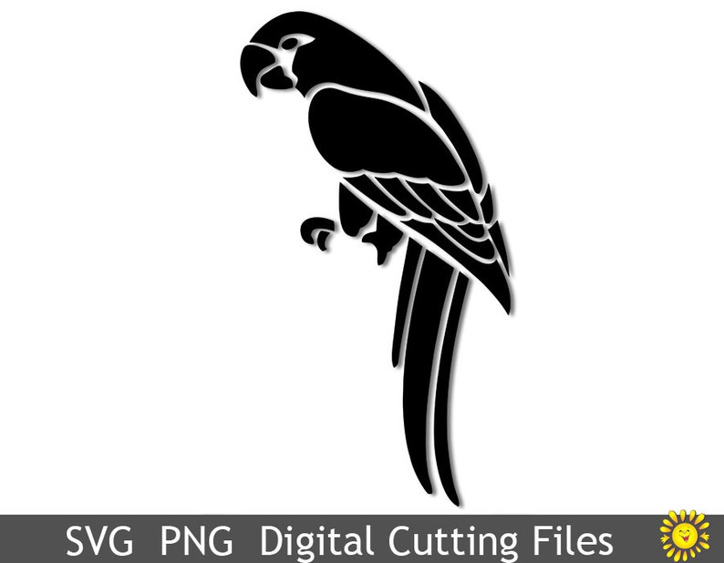 Download SVG and PNG cutting file template Parrot Cricut Silhouette ...