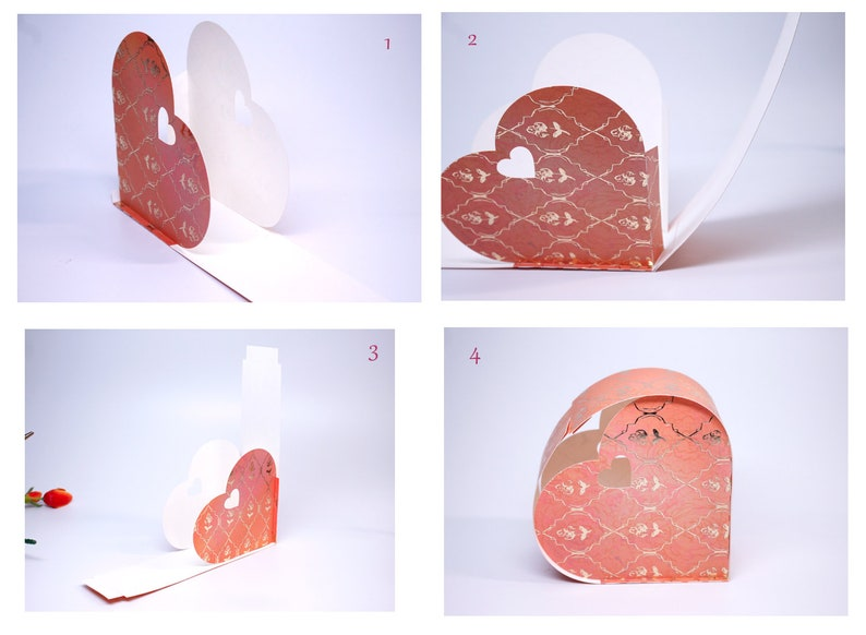 DIY SVG cutting file template Gift Box Wedding Favor Valentine Day Gift Love  Cricut Silhouette  Present 1133SV