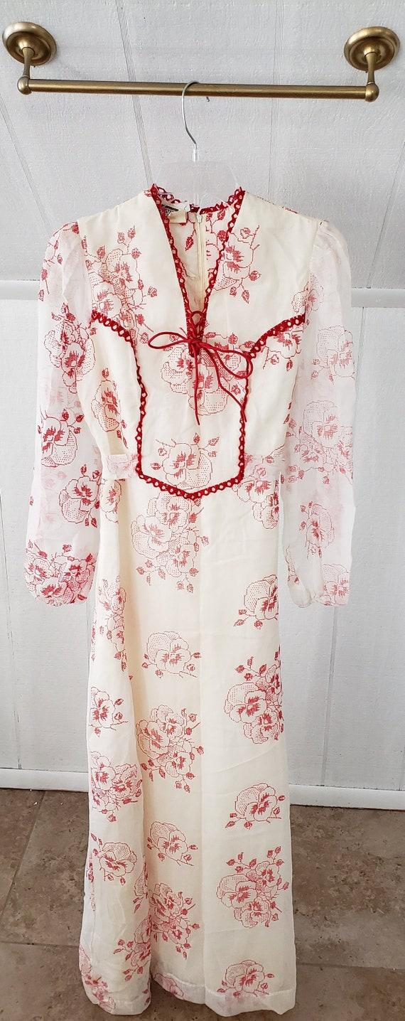Vintage Montgomery Ward Floor Length Dress