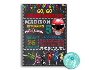 Power Rangers InvitationPower BirthdayPower Birthday PartyPower Party