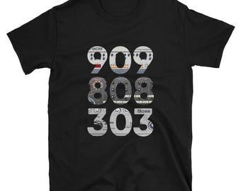 909 808 303 Roland Music lover Audiophile Retro Tee T-Shirt