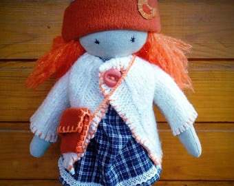 Red hair Waldorf Sprite - Waldorf inspired doll