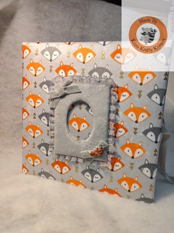 Custom Fox Fabric Photo Album For Baby Boy Holds 500 4x6 Etsy