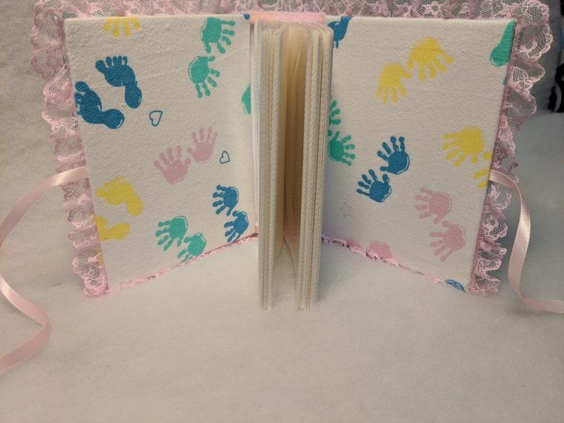 Hand and Feet Prints Custom Baby Girl Photo Album Custom Baby Girl Memory Book Custom Baby Girl Photo Book Custom Baby Shower Gift