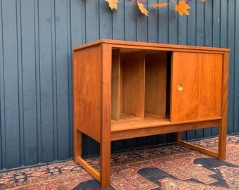 Stunning Vintage Danish Vinyl Record Cabinet