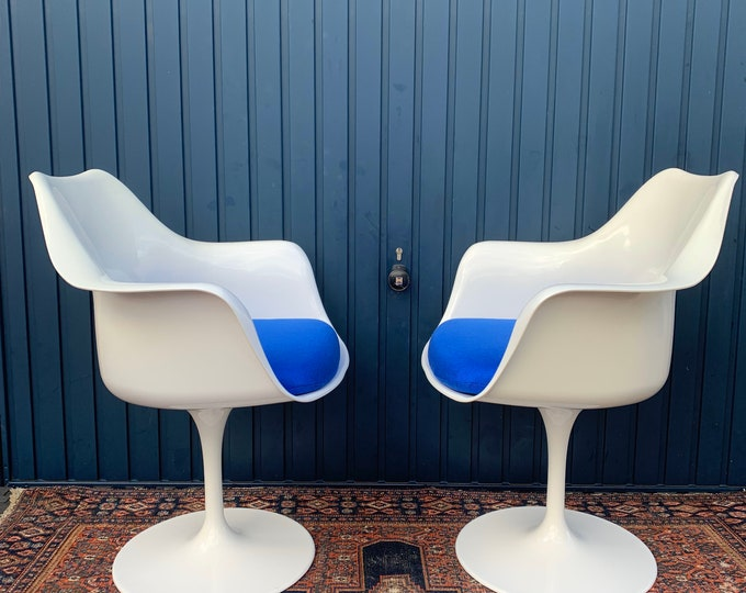 Outstanding Pair Of Tulip Armchairs