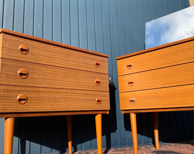 Pair of Mid-Century Chest of Drawers