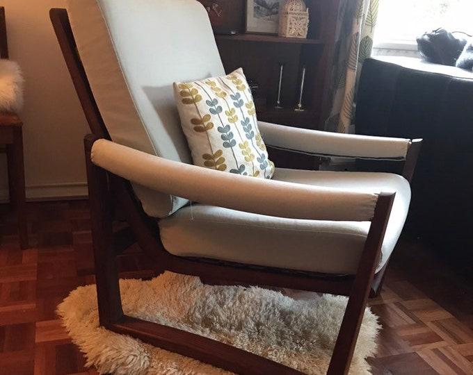 Sleek Vintage Mid Century Scandi Armchair