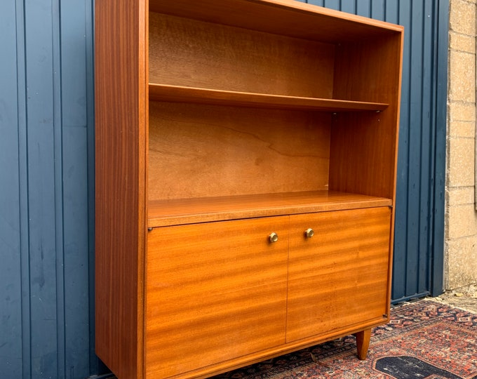 Mid Century Vinyl Record Cabinet Bookshelf Shelving