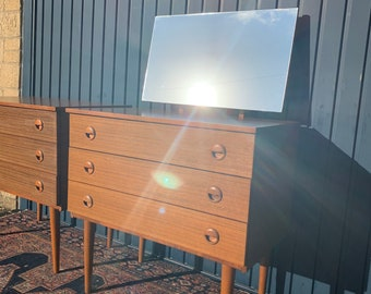 Small Retro Chest of Drawers - Vintage Mid Century Design