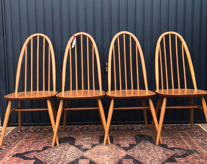 Vintage Ercol Dining Chairs - Set of 4 (Four)