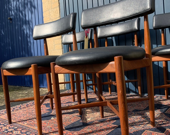 G Plan Vintage Dining Chairs - Set of Four