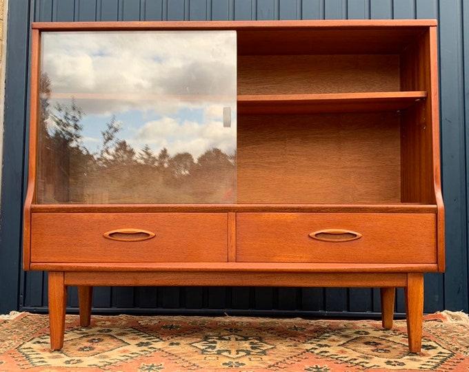 Vintage Mid-Century Glazed Bookcase - Curiosity Cabinet