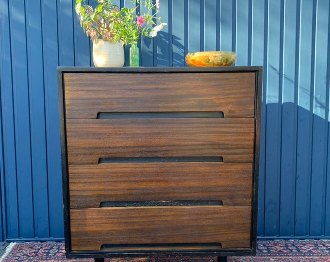 Mid Century Walnut Chest of Drawers by John and Sylvia Reid for Stag - Refinished Vintage Condition