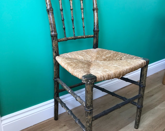 Antique Accent Chair - Feau Bamboo Style