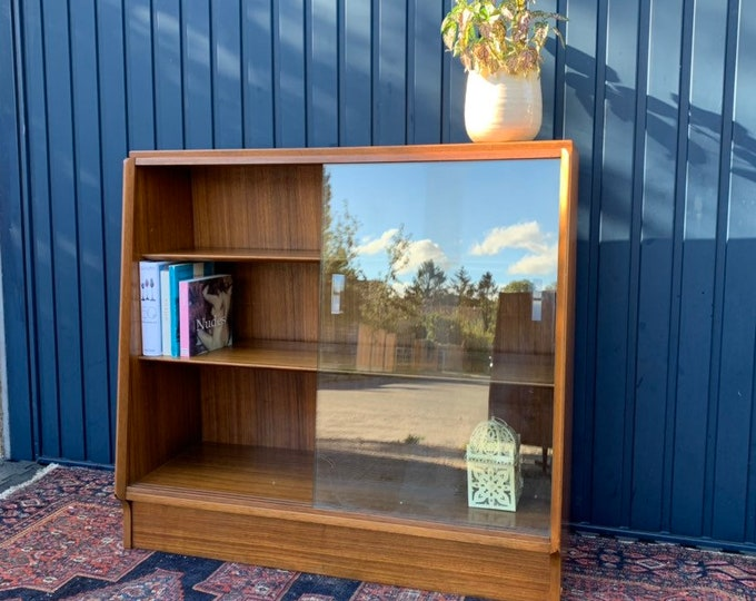 Small Sideboard - Glazed Bookshelves - Beautiful Vintage G Plan Collectors Item