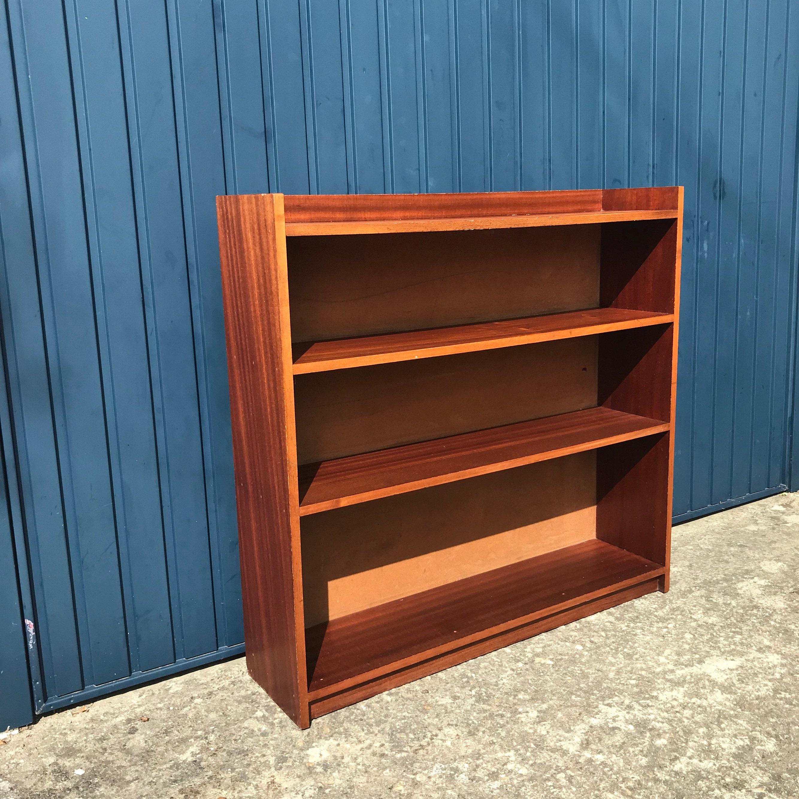 Mid Century Teak Low Bookcase