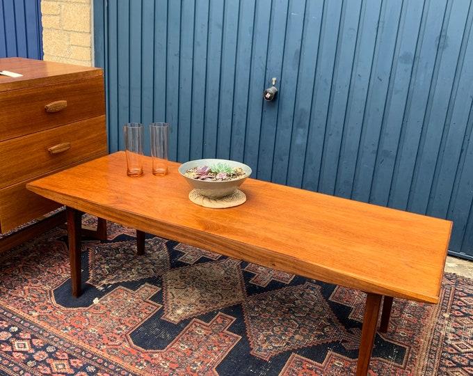 Beautiful Vintage Solid Wood Coffee Table - Designed Mid 20th Century - Style Danish Modern