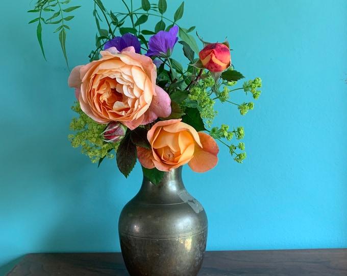 Beautiful Vintage Brass Vase - 18cm Tall