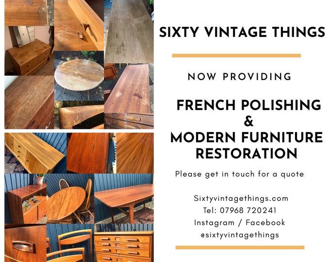 Furniture Refinishing - French Polishing and Modern Furniture Refinishing