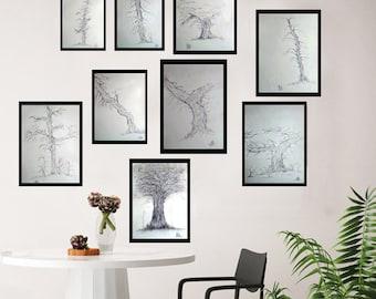 Trees {charcoal}