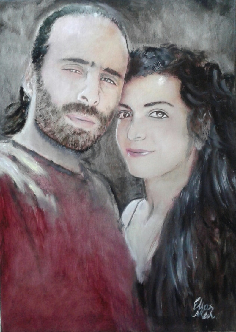 PORTRAIT FROM PHOTO  Oil / pastel / charcoal رسومات أشخاص من OIL - .زيتية