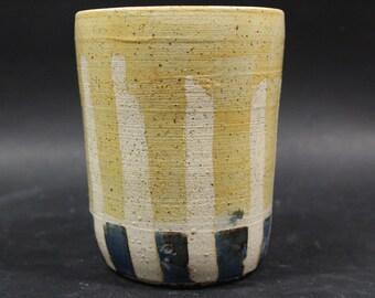 Tall Striped Vase