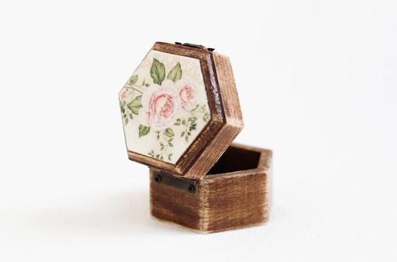 Engagement Ring Box Marry Me Box Rose Ring Holder Boho Ring Box Proposal Ring Box Geometric Ring Bearer Box With Moss Rustic Ring Box