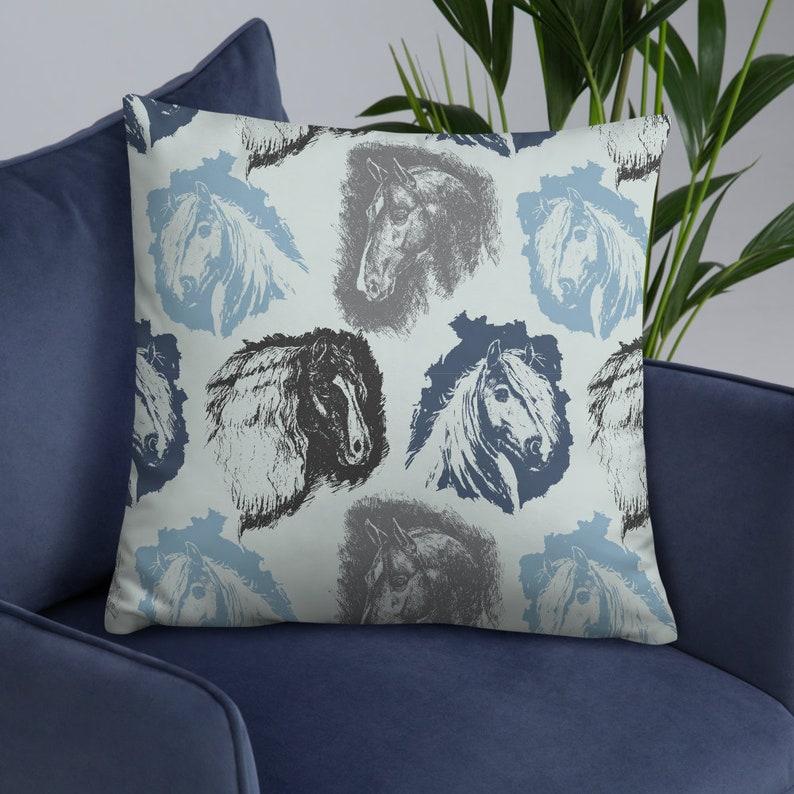 gypsy vanner equestrian pillow free shipping Horse Throw Pillow horse decor haflinger