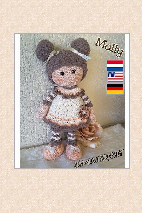 Molly Doll crochet pattern - Amigurumi Today | 855x570