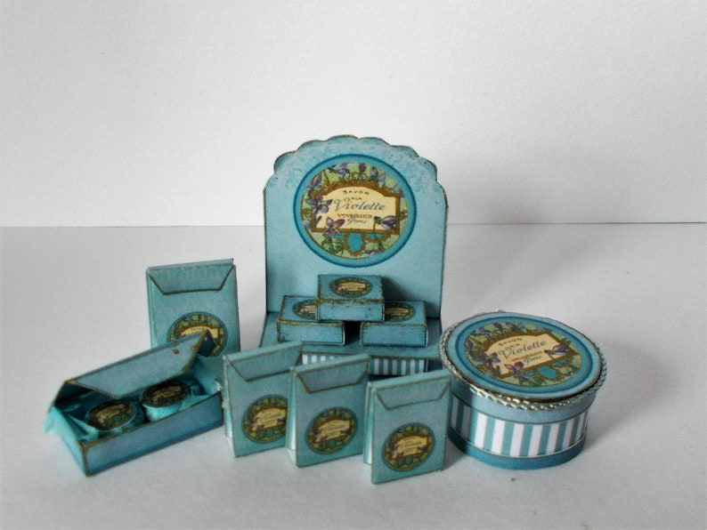 DOLLHOUSE MINIATURE ~ OILETTE SOAP BOX VINTAGE