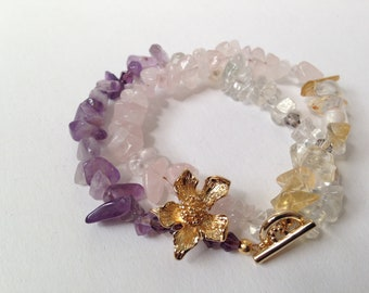 Spring Flowers Bracelet - Cherry Blossom Amulet for Joy and Play