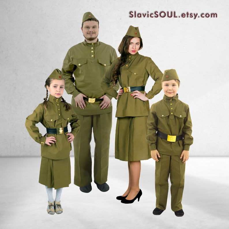 484720ebf Costume for a Victory Day, Military uniform, Red Army Costume, Second World  War, Military cap, shirt, costume for boy, girl, women, men