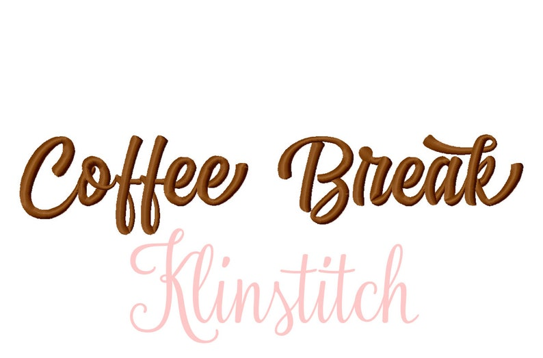 50% Sale!! Set 2 Coffee Break Embroidery Fonts 5 Sizes Fonts BX Fonts  Embroidery Designs PES Fonts Alphabets - Instant Download