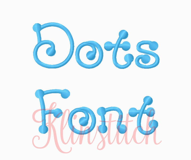 50% Sale!! Dots Font Embroidery Fonts 4 Sizes Fonts BX Fonts Embroidery  Designs PES Fonts Alphabets - Instant Download
