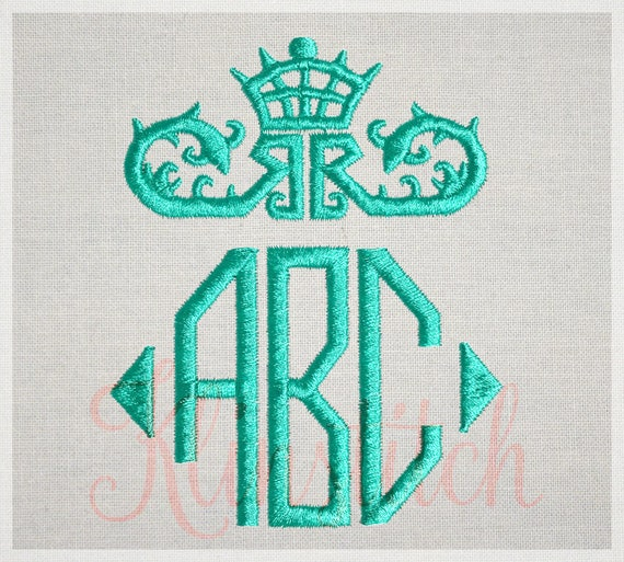Octagon Monogram Embroidery Fonts 3 Sizes Three Letters Monogram Fonts BX  Fonts Embroidery Designs PES Alphabets - Instant Download
