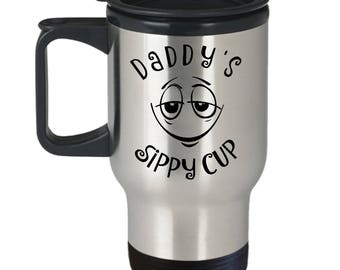 Daddys Sippy Cup Mug, Daddy's, Travel Mug, Funny Dad mug for Dad of toddler, Perfect for Father's Day
