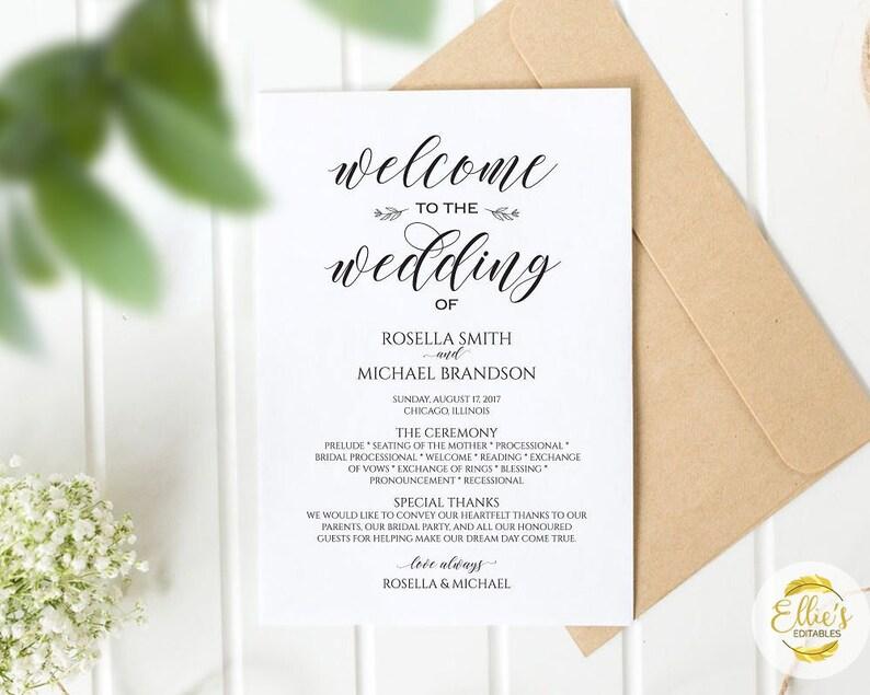 Wedding Program Checklist:
