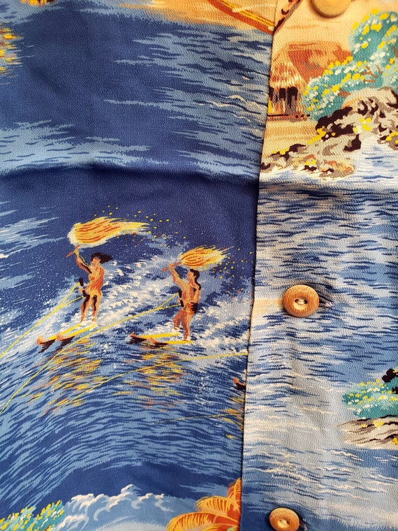 1950s Polynesian SportSwear Hawaiian Shirt - image 4
