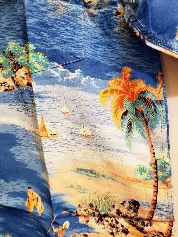 1950s Polynesian SportSwear Hawaiian Shirt - image 7