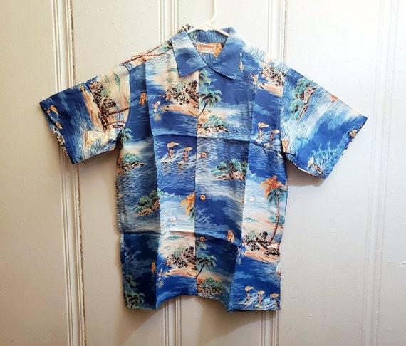 1950s Polynesian Sportwear Hawaiian Shirt