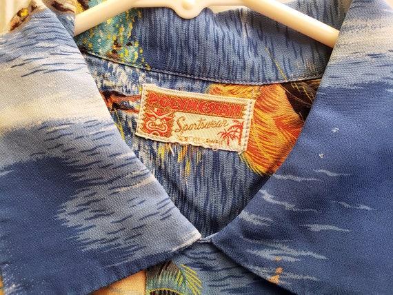 1950s Polynesian SportSwear Hawaiian Shirt - image 3