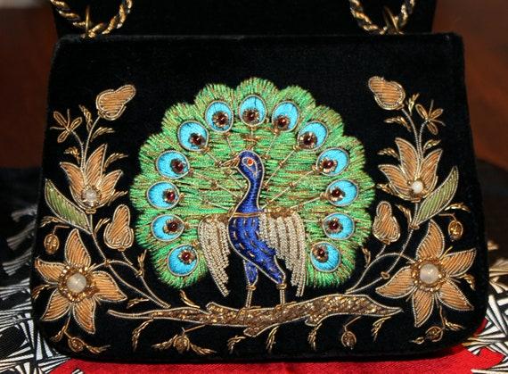 Vintage Embroidered Velvet Purse