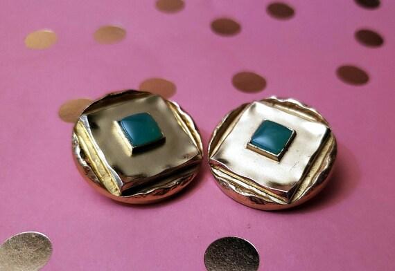 Vintage 1960s Oranium Paris Clip on Earrings